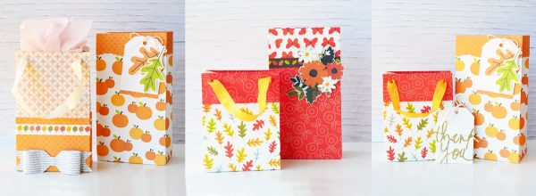 Create fun DIY #patternedpaper gift bags using @PebblesInc gorgeous new #WoodlandForestcollection with @leanne_allinson