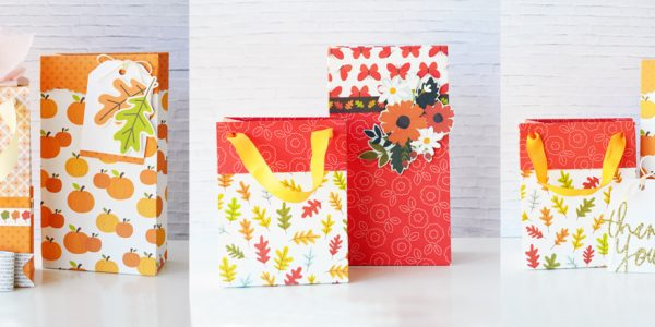 Patterned Paper Gift Bags