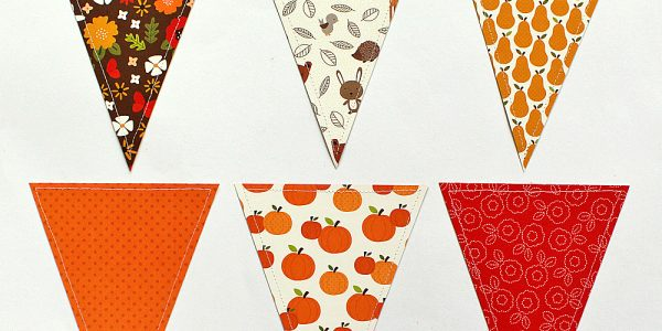 DIY Patterned Paper Fall Banner