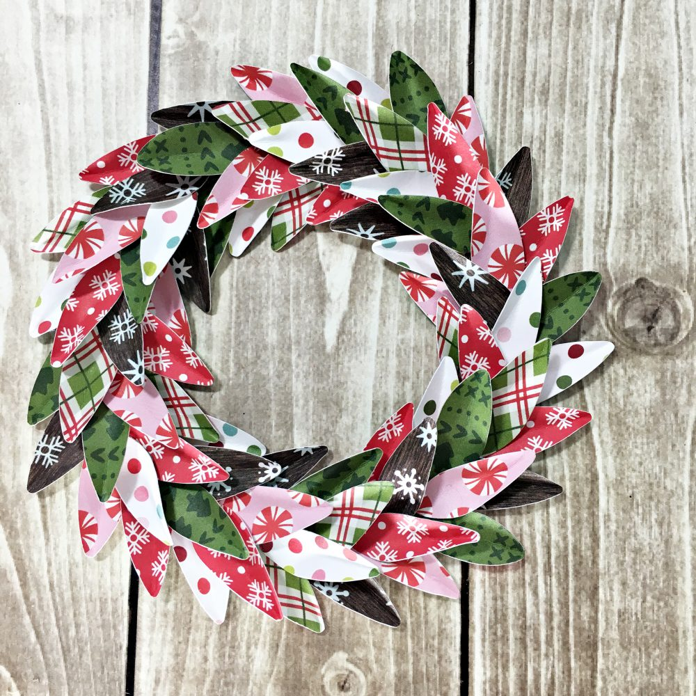 DIY Christmas Decor made by @HeatherLeopard using the #HollyJolly collection from @PebblesInc.