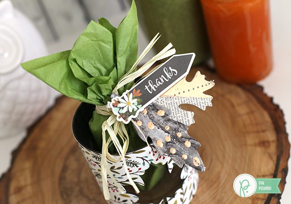Create this cute gift in minutes with this tutorial from @evapizarrov and the new #WarmAndCozy line from @pebblesinc