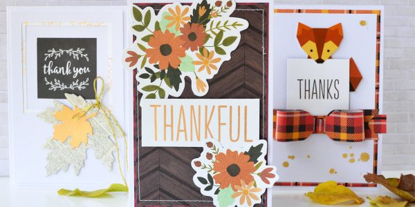 Giving Thanks set of three Cards