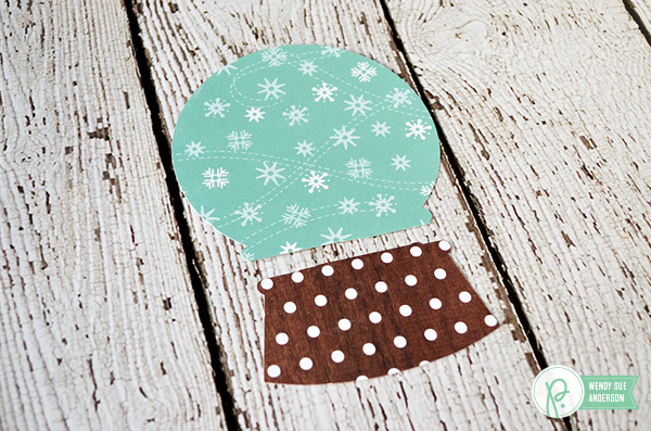"""Create your own snowglobe card set by @wendysue featuring the """"Holly Jolly"""" Collection by @PebblesInc"""
