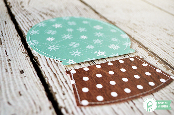 "Create your own snowglobe card set by @wendysue featuring the ""Holly Jolly"" Collection by @PebblesInc"