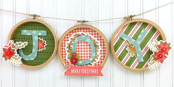 Embroidery Hoop Christmas Banner