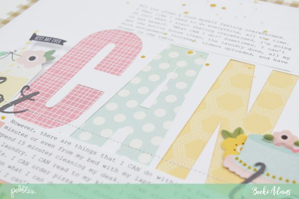 New Years Resolutions Layout by @jbckadams for @pebblesinc #scrapbooking #madewithPebbles #resolutions