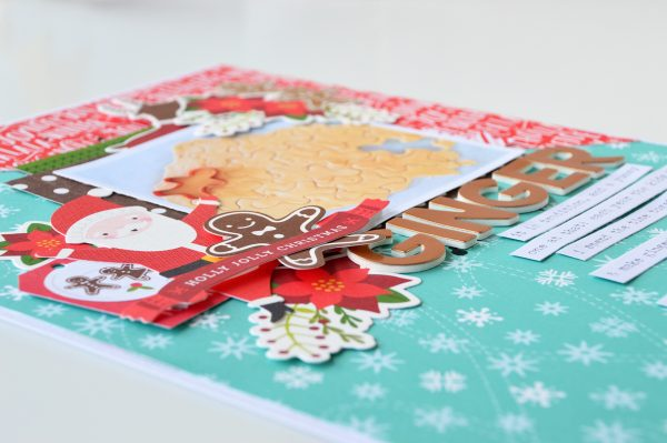 Create a layout using @PebblesInc #HollyJollycollection to document family traditions as shown by @leanne_allinson.