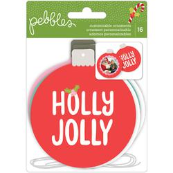 Use these gorgeous christmas ornaments not only for your tree with this fun tutorial from @evapizarrov using the new #HolliJolly line form @pebblesinc