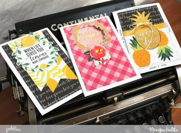 Favorite Cards with Favorite Phrases made by @MoniqueLiedtke using the #Everyday collection from @PebblesInc.