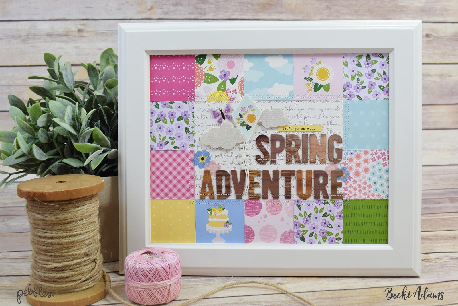 DIY Spring Home Decor created by @jbckadams for @Pebblesinc #DIYSpringHomeDecor #papercrafting #Pebblesinc