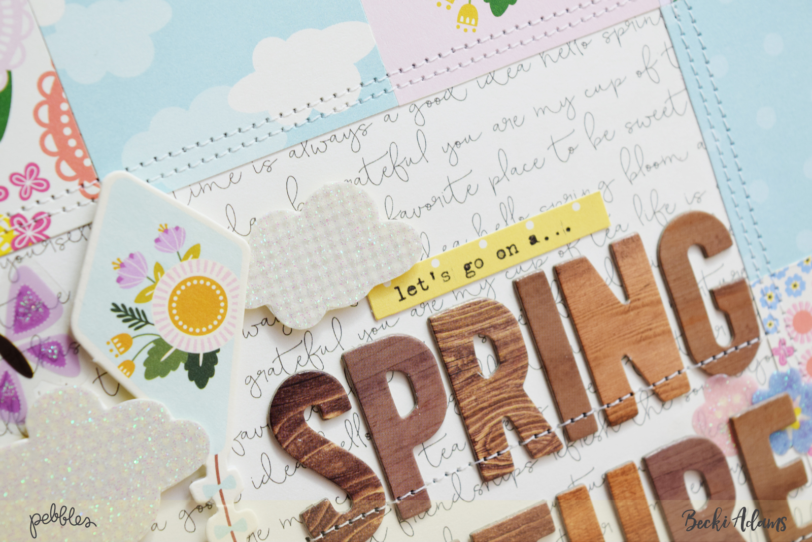 DIY Spring Home Decor created by @jbckadams for @Pebblesinc #DIYSpringHomeDecor #papercrafting #Pebblesinc