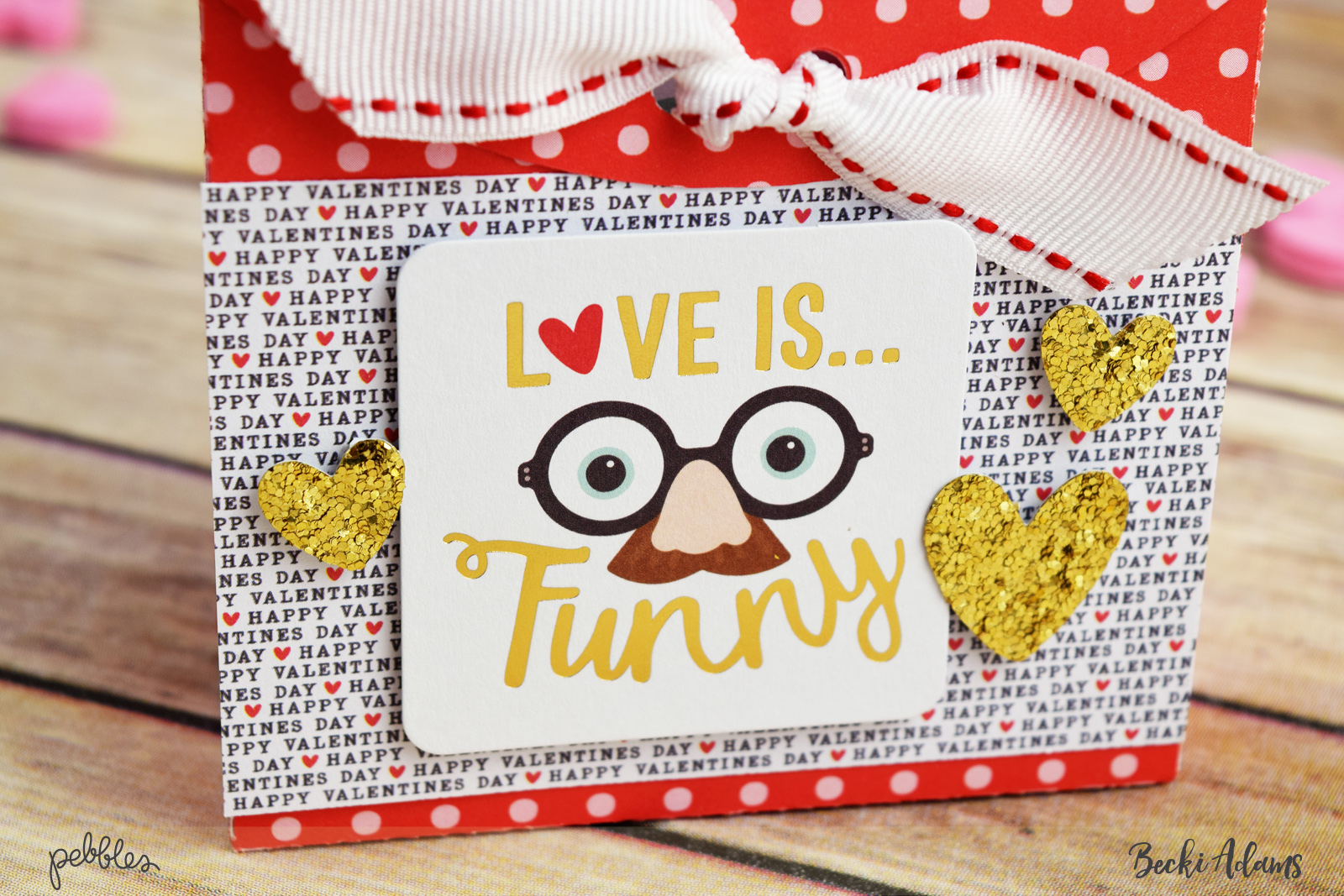Valentines Quick Gift Idea by @jbckadams for @pebblesinc #valentinesgift #pebblesinc #BeckiAdams #papercraft