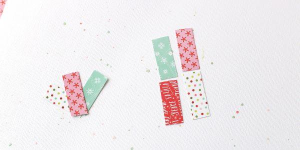 Paper Strip Snowflake Layout