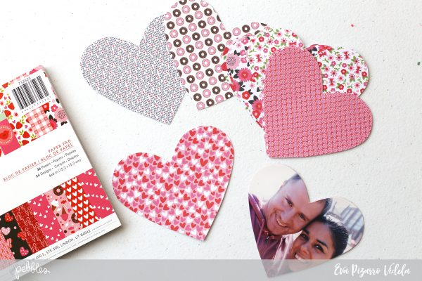 make these cute Love notes in minutes with this tutorial from @evapizarrov and the new #MyFunnyValentine collection by @pebblesinc #pebblesinc #valentines #diy