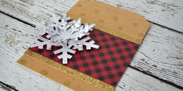Quick Snowflake Themed Gift Bag
