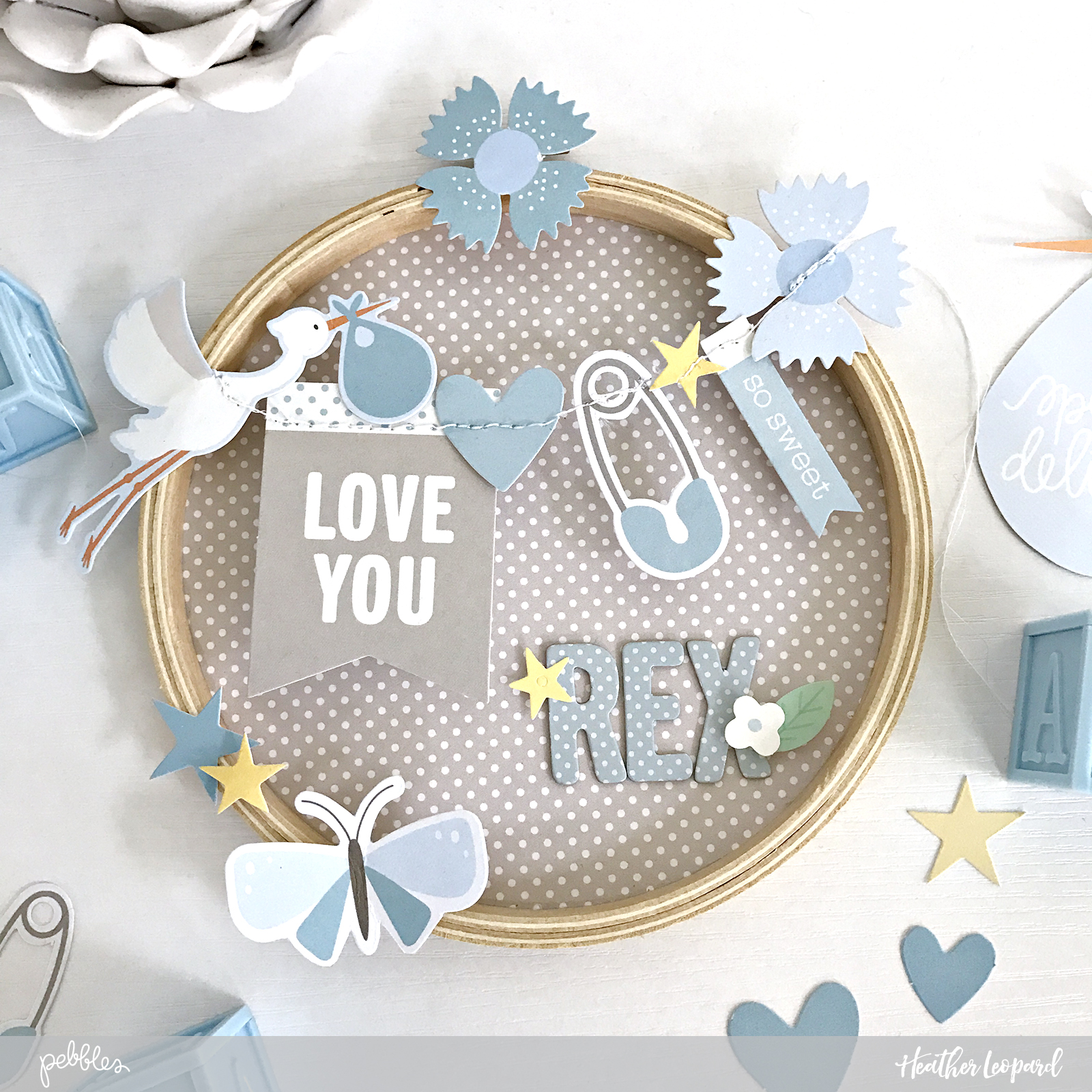 DIY Baby Room Decor by @HeatherLeopard using the #Lullaby collection by @pebblesinc #baby