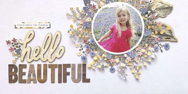 Hello Beautiful | Simple Life Scrapbooking Layout