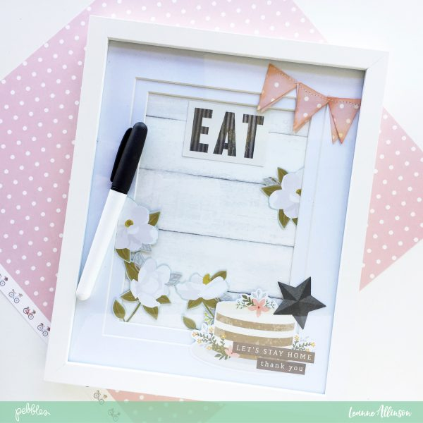 Create your own noticeboard with @PebblesInc #SimpleLifecollection and wooden photo frame as shared by @leanne_allinson.
