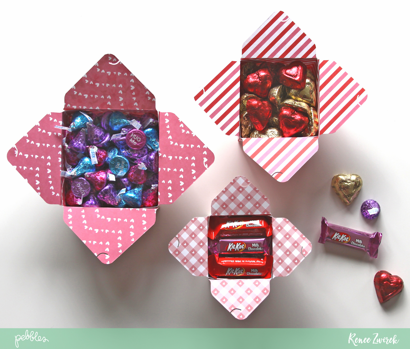 Valentines Day Card and Quick Gift  Pebbles Inc