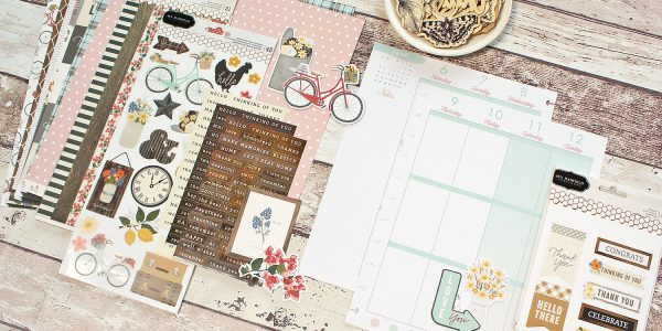 Embellishing your planner with @moniqueliedtke using the new #SimpleLife collection by @pebblesinc #madewithpebbles #pebblesinc #scrapbook #layout