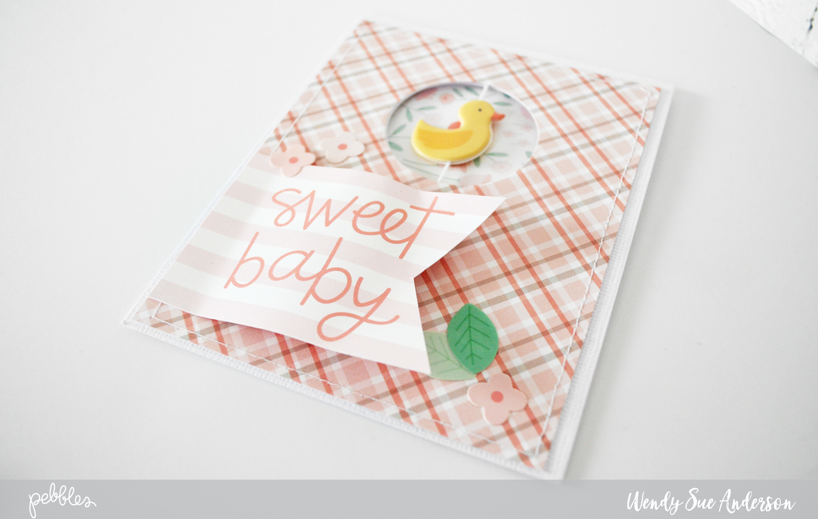 """Sweet Baby"" Spinner card tutorial by @wendysue with the ""Lullaby"" collection by @PebblesInc."