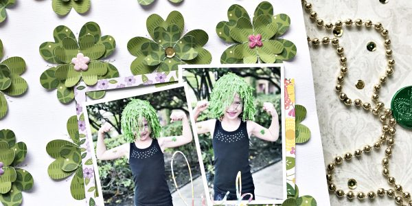 Lucky Charm Scrapbooking Layout and Free Cut File