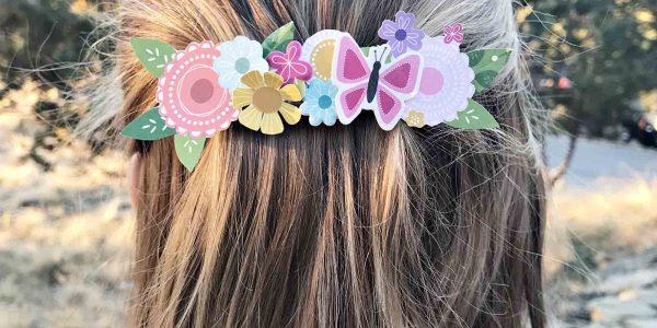 DIY Floral Barrette
