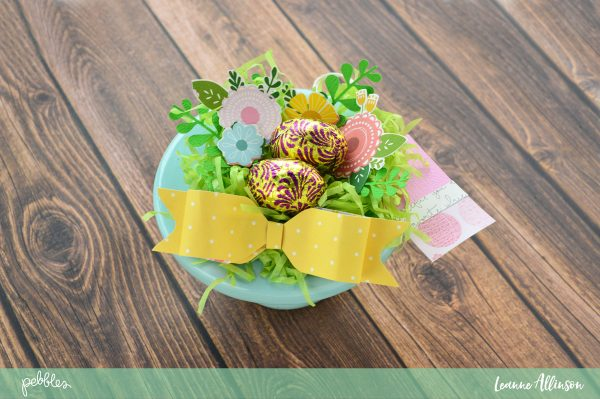 Create Easter Gifts using your favourite @PebblesInc collection and some cardstock as shared by @leanne_allinson.