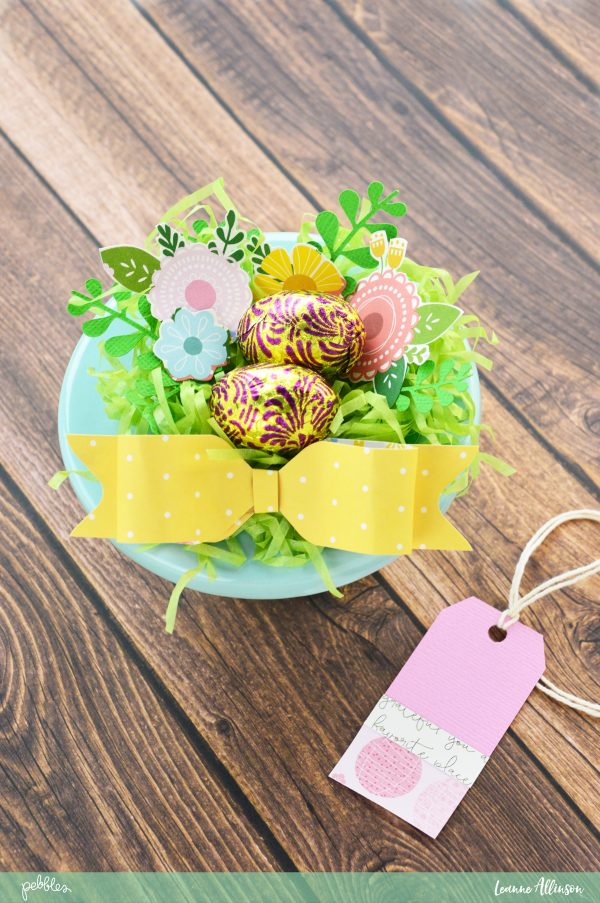 Easter nest gift pebbles inc these gifts are small enough to hold in your hand but large enough to hold two mini chocolate eggs negle Images