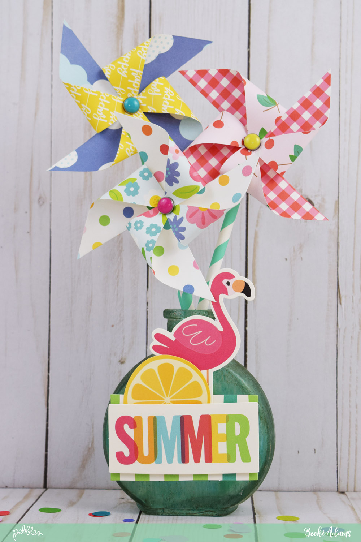 Diy summer centerpiece ft sunshiny days collection