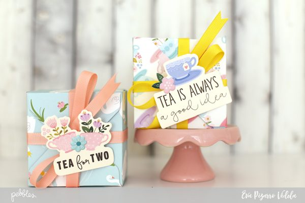 Personalized tea bag boxes are perfect for Mother's Day! @evapizarrov shows you how to make these using the #tealightful collection by @pebblesinc