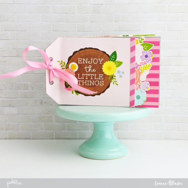 Create a Mother's Day mini album just in time for #MothersDay using @PebblesInc #Tealightfulcollection