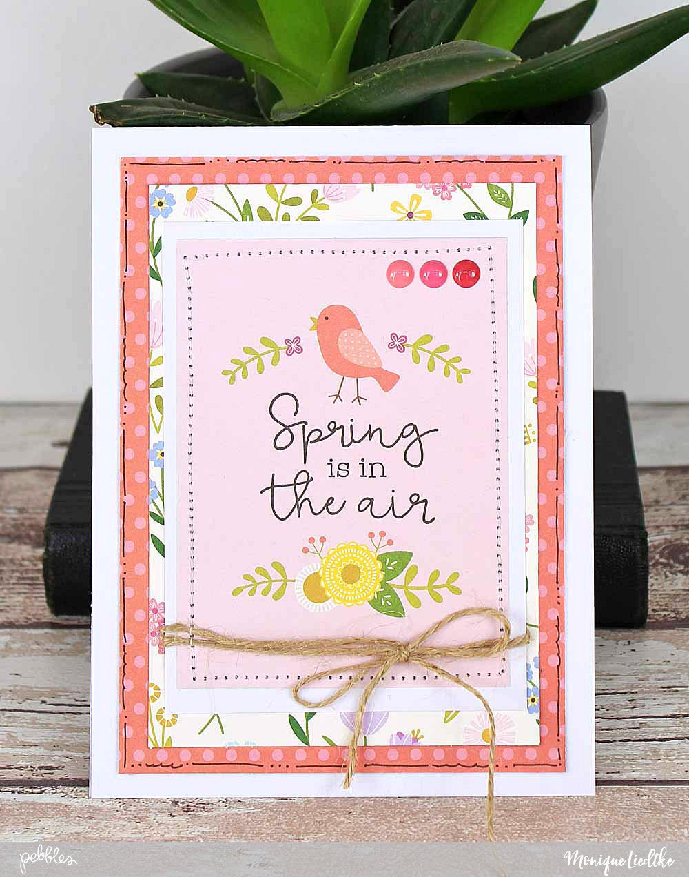 "Tealightful Spring Cards created by @moniqueliedtke with the ""Tealightful"" collection by @PebblesInc #madewithpebbles #pebblesinc #spring_cards"