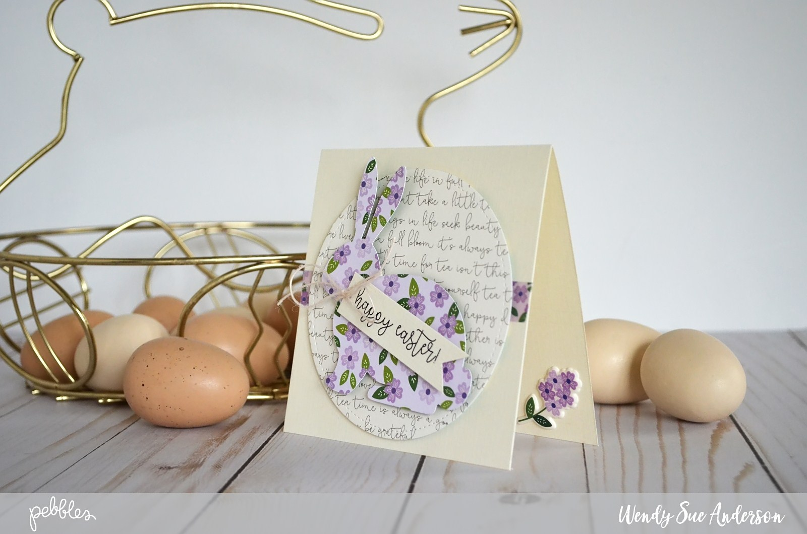 "Tutorial for creating these simple, sophisticated Easter cards by @Wendysue with the ""Tealightful"" collection from @pebblesinc."