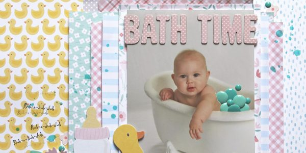 Bath Time Layout with Lots of Layers