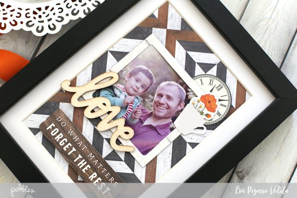 Create an interchangeable Photo Frame with this tutorial by @evapizarrov using @pebblesinc new line #SimpleLife.