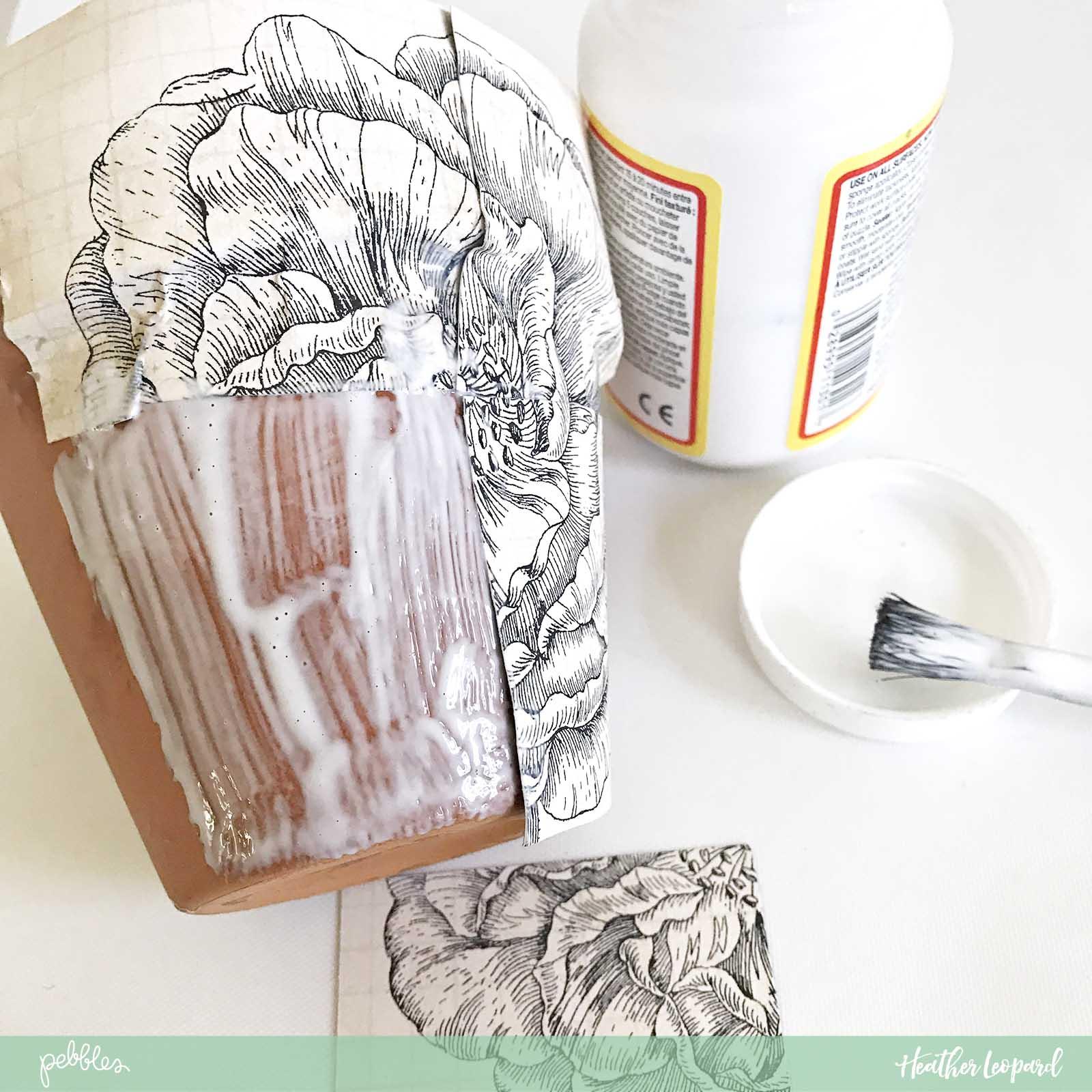 DIY Teacher Gift by @heatherleopard using the @PebblesInc #jenhadfield #simplelife collection #teachergift #DIY #decoupagepot #madewithpebbles