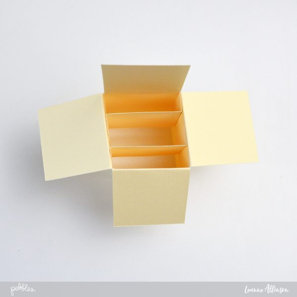 Create your own card in a box using @PebblesInc as inspiration.