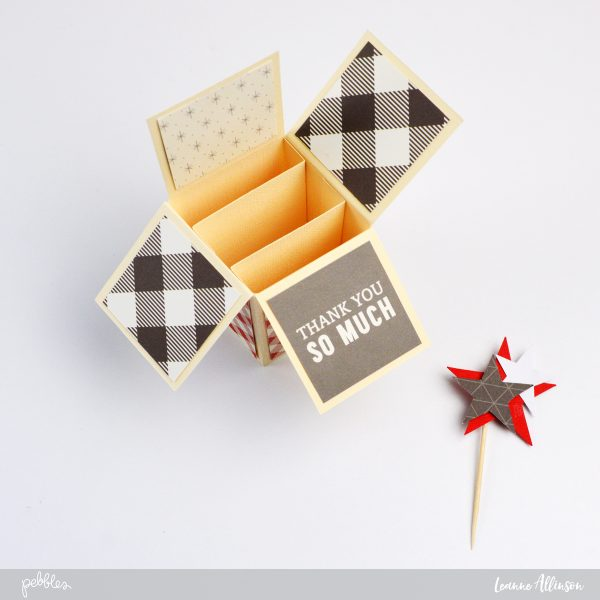 Create your own pop-up-box card for Memorial Day using @PebblesInc as inspiration.