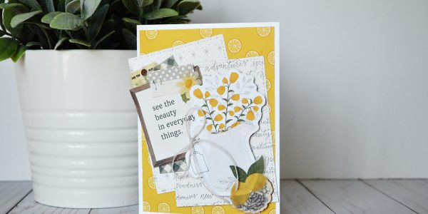"step-by-step instructions by @wendysue for creating a pretty layered card with the ""Simple Life"" collection by @PebblesInc."