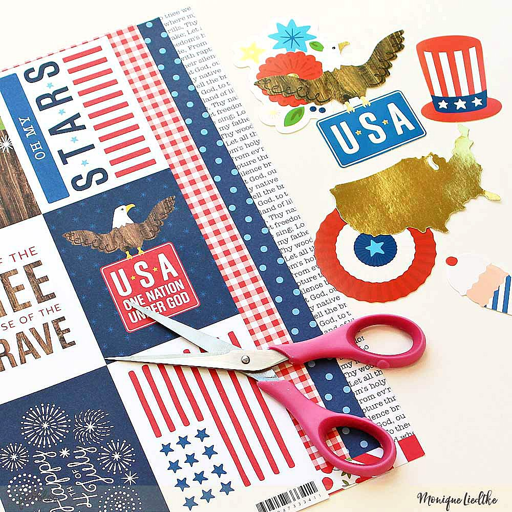 Set of Memorial Day cards created by @moniqueliedtke with the #America_the_Beautiful collection by @PebblesInc #madewithpebbles #pebblesinc #memorial_cards