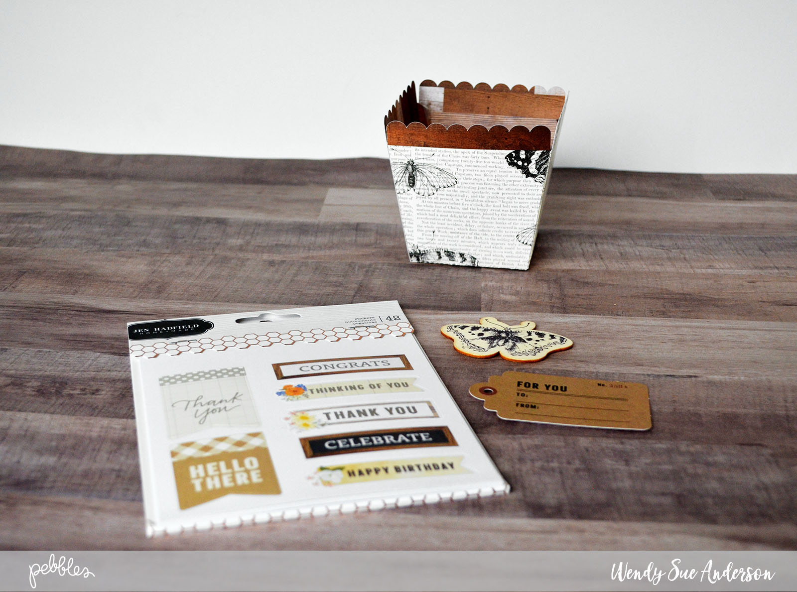 """Quick Mother's Day Gift by @WendySueA with the """"Simple Life"""" collection by @PebblesInc."""