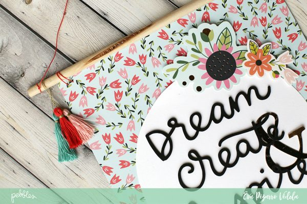 Follow this tutorial from @evapizarrov and use the new #GirlSquad line by @pebblesinc to make this adorable paper wall banner #madewithpebbles #pebblesinc #homedecor #wallbanner