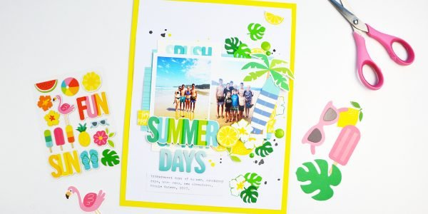 Sunshiny Days Layout: Bright & Fun Colors