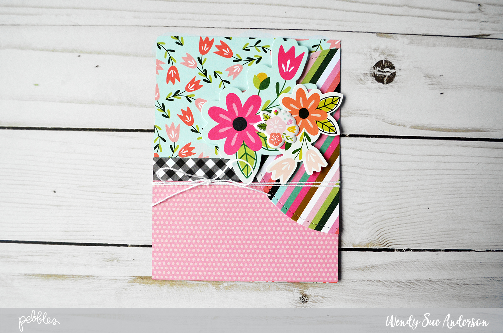 "Create these quick and easy cards and coordinating envelopes by @WendySue (@WendySueA) with the ""Girl Squad"" collection from @PebblesInc."