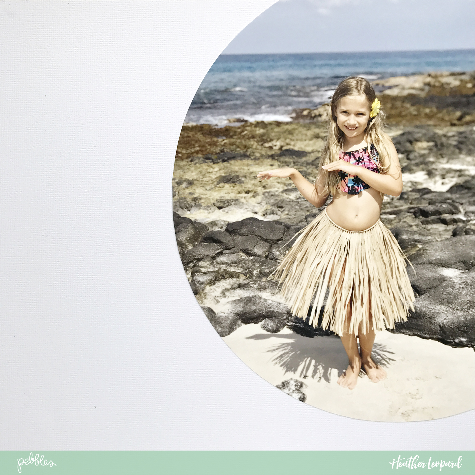 Aloha heart and free cut file by Heather Leopard using @PebblesInc #SunshinyDays collection #scrapbook #summer #scrapbooking #hula #madewithpebbles #aloha #hawaii