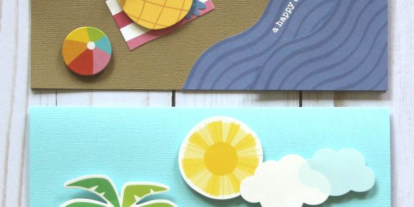 Send happy mail this summer with a Beach Day card by @reneezwirek using the #sunshinydays collection by @pebblesinc