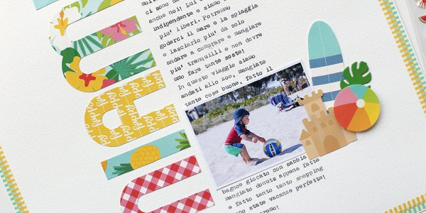 Patterned Paper Title with Sunshiny Days
