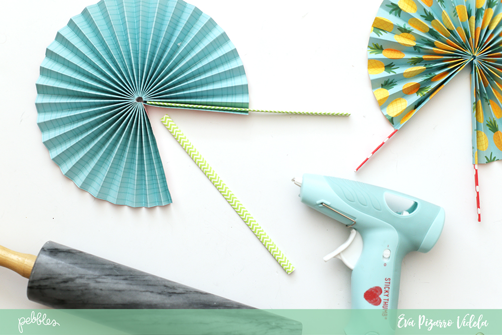 Diy Paper Fans With Sunshiny Days Pebbles Inc