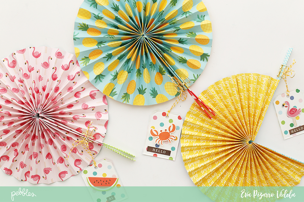 DIY Paper Fans with Sunshiny Days - Pebbles, Inc